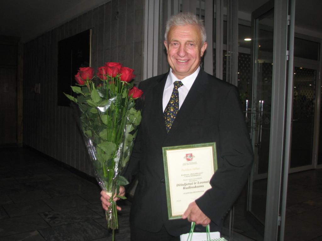 Konkurso nugalėtojų gretose buvo ir per 1000 hektarų Kauno rajone valdantis Leonas Rudinskas. A. Čapliko nuotr.