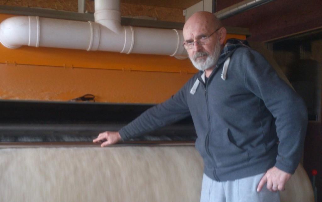 J. Tručinskas įrengė vienintelę Baltijos šalyse ekologišką vilnų plovyklą. N. Baronienės nuotr.