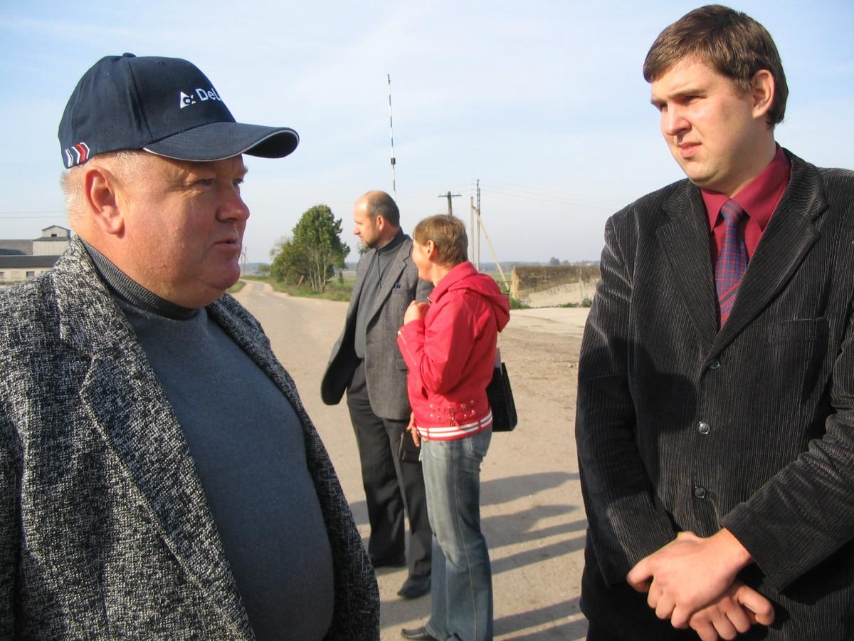 Vienas iš retų susitikimų ūkininkų renginyje: D. Šimukonis (dešinėje) ir M. Butkevičius.