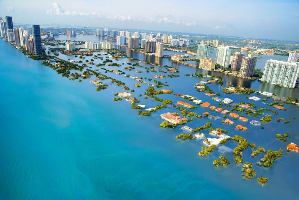 Dėl kylančio vandens lygio didelė dalis Majamio ir visos Floridos valstijos atsidurs po vandeniu.  Scanpix nuotr.