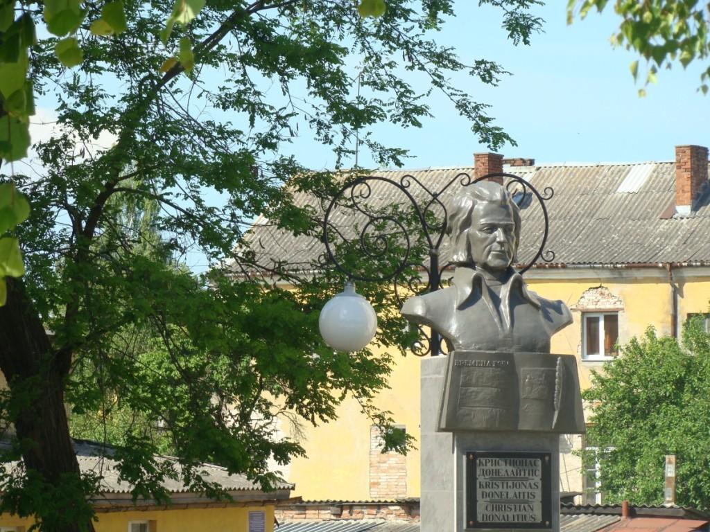 Paminklas Lietuvos literatūros klasikui K.Donelaičiui Gumbinėje. J.Ivanausko nuotrauka. Asmeninio archyvo nuotr.