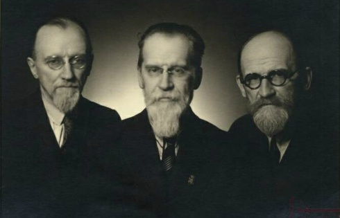 Broliai Biržiškos: plk. ltn. Viktoras, akademikas Mykolas, bibliografas Vaclovas. Lietuvos centrinio valstybės archyvo nuotrauka