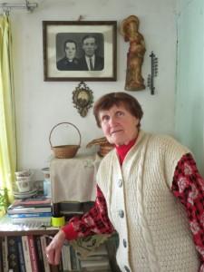 Joana Vilkienė išsaugojo šių namų šeimininkų – vyro tėvų – portretus