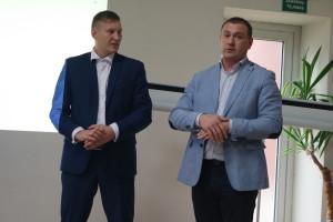 """""""Ūkininkų ateitis ir galia – vienybėje"""", – sutarė I.Jankauskas (iš kairės) ir D.Kižauskas."""