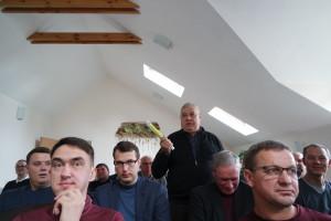 Grūdininkai į susirinkimą pasikvietė daug svečių ir jiems turėjo nemažai klausimų.