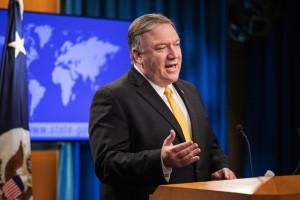JAV valstybės sekretorius Mike'as Pompeo pareiškė, kad Maskva pažeidė INF susitarimą.