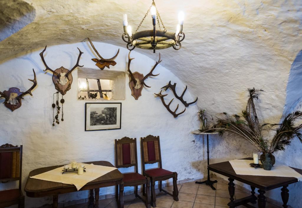 XIX a. rūmų interjerą puošė giminės portretai, skulptūros, medžioklės trofėjai, senoviniai ginklai. M. Ambrazo nuotr.