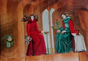 V.Vaitkuvienės freska Katedros vaistinėje Vilniuje, Gedimino prospekte. Asmeninio archyvo nuotr.