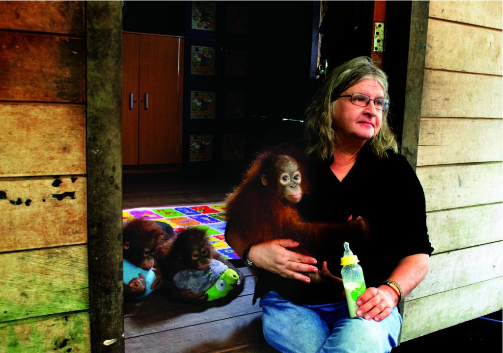 Mokslininkė didžiąją metų dalį gyvena Indonezijojos atogrąžų miškuose, orangutangų namuose. Asmeninio archyvo nuotr.