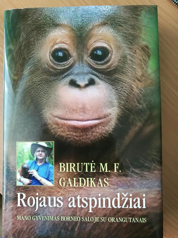 """Savo knygoje autorė prisipažino: """"Aš gimiau tyrinėti orangutangus""""."""