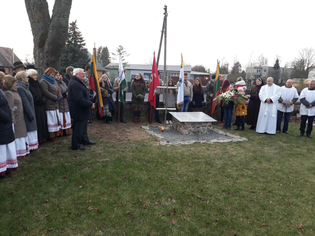 Bukonių Šv. arkangelo Mykolo bažnyčios šventoriuje atidengtas paminklas Vyties Kryžiaus kavalieriams ir 1918–1920 metų savanoriams.